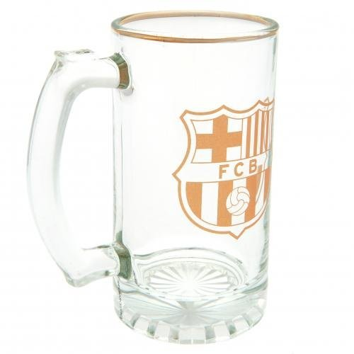 barcelona fc jarra cristal vidrio